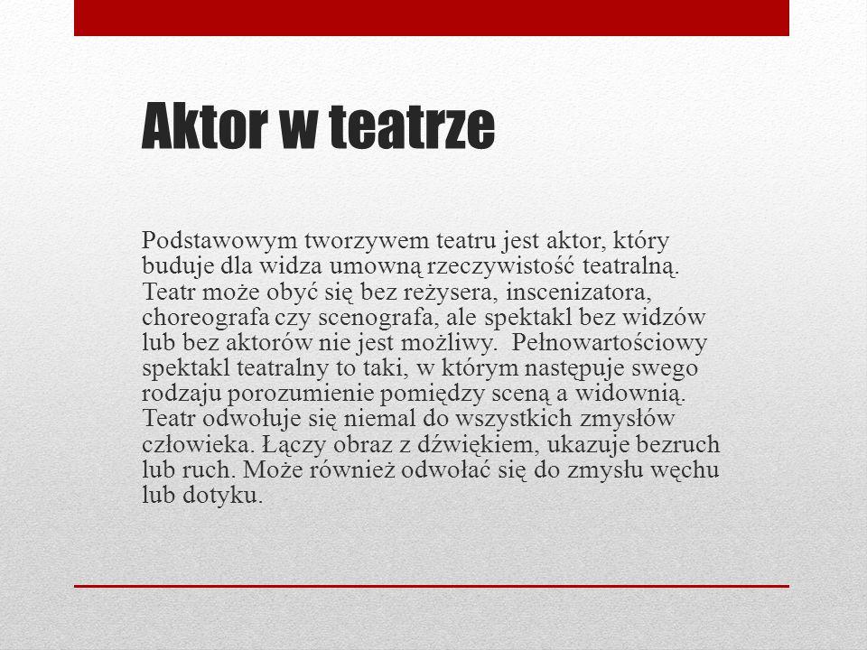 Aktor w teatrze