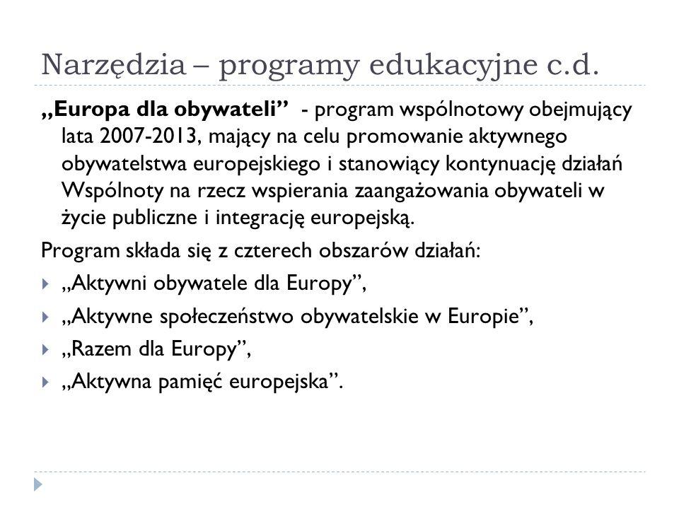 Narzędzia – programy edukacyjne c.d.