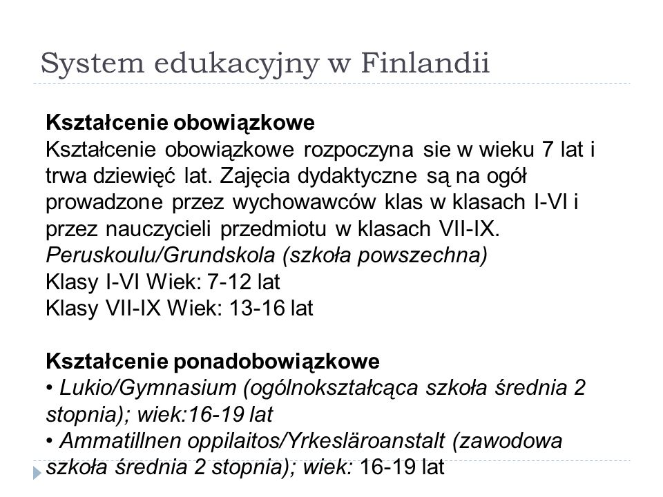 System edukacyjny w Finlandii