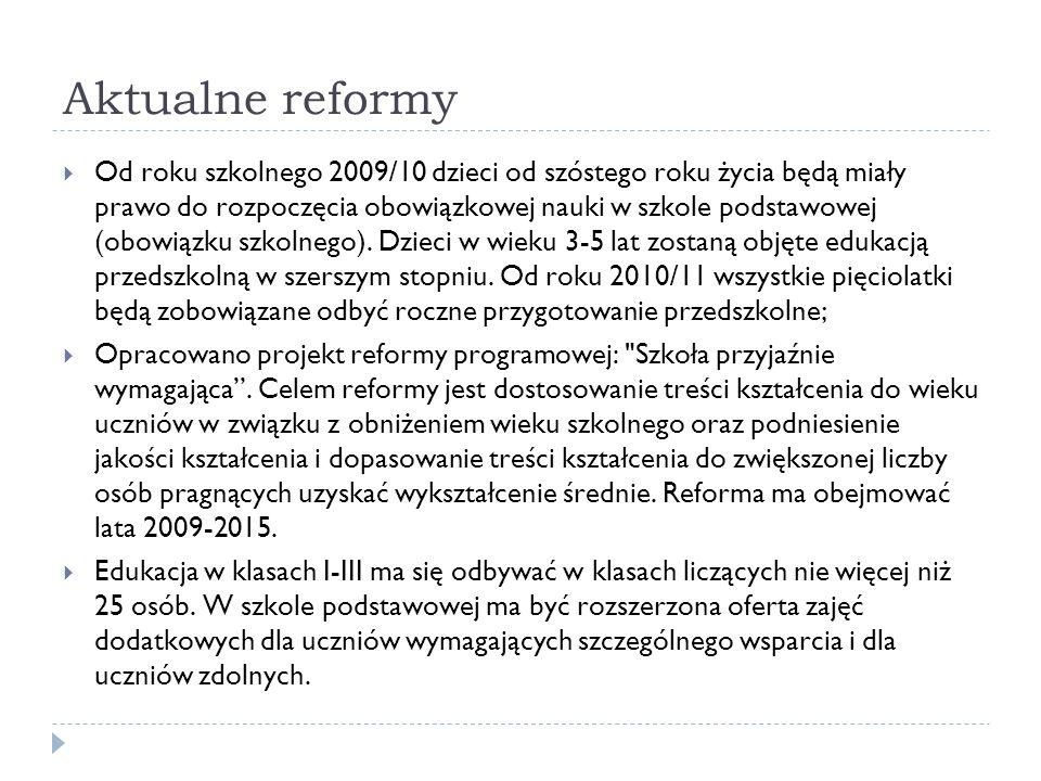 Aktualne reformy