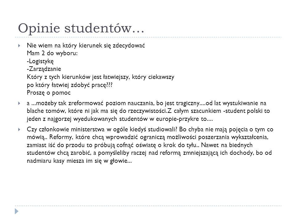 Opinie studentów…