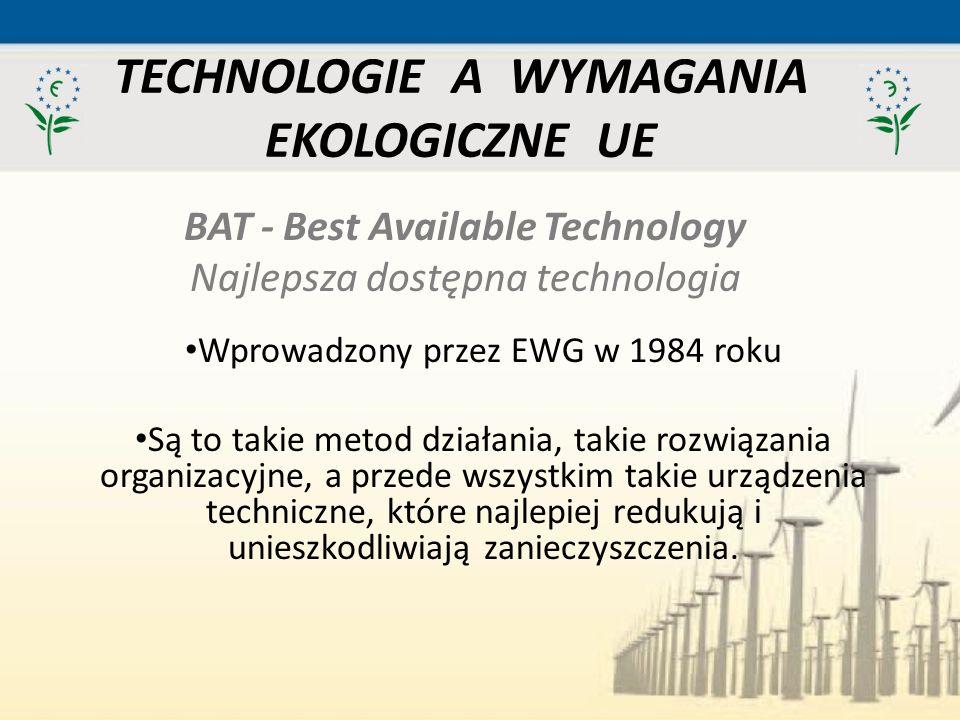 TECHNOLOGIE A WYMAGANIA EKOLOGICZNE UE