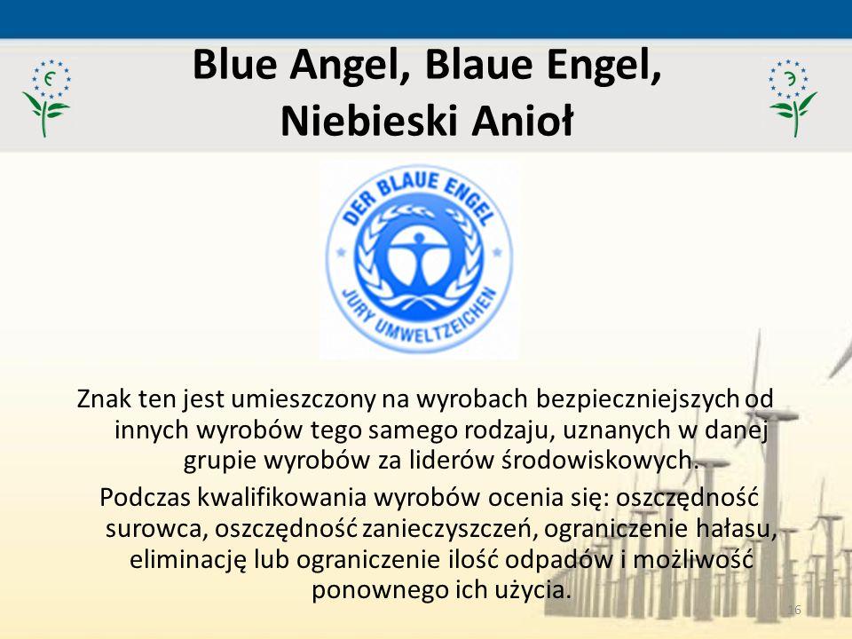 Blue Angel, Blaue Engel, Niebieski Anioł