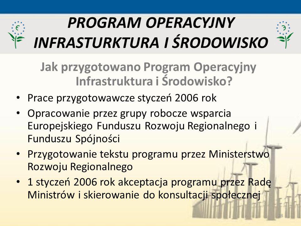 PROGRAM OPERACYJNY INFRASTURKTURA I ŚRODOWISKO