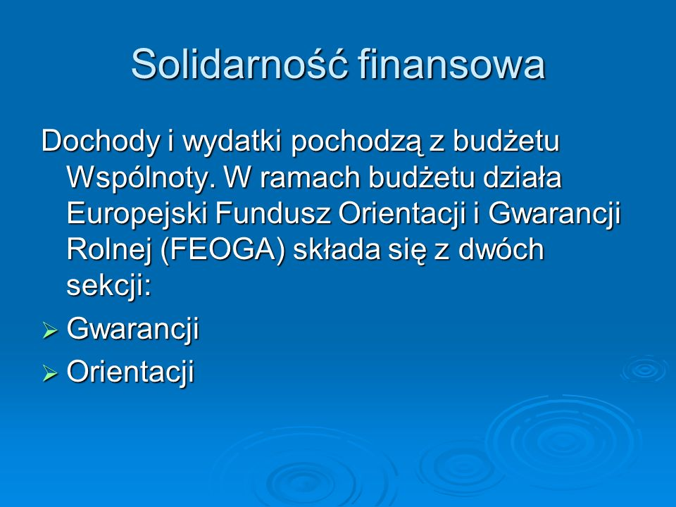 Solidarność finansowa