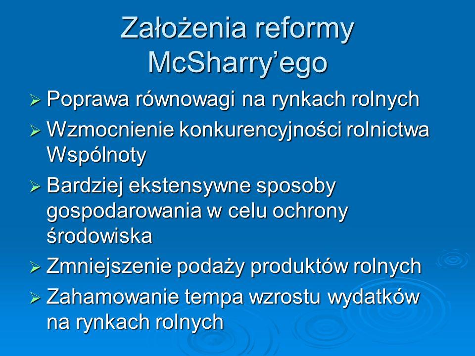 Założenia reformy McSharry'ego