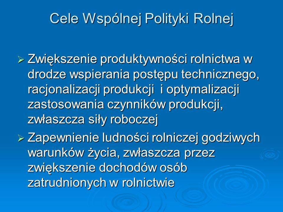 Cele Wspólnej Polityki Rolnej
