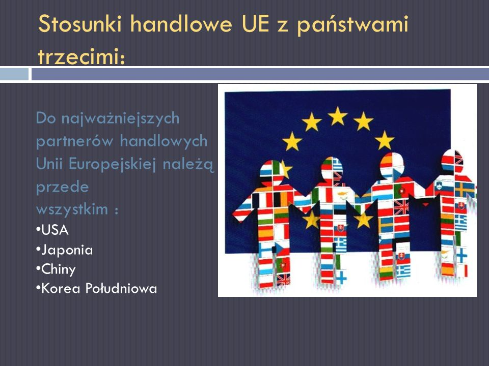 Stosunki handlowe UE z państwami trzecimi: