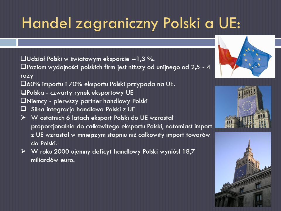 Handel zagraniczny Polski a UE: