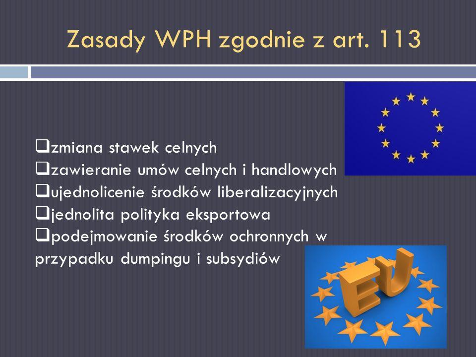 Zasady WPH zgodnie z art. 113
