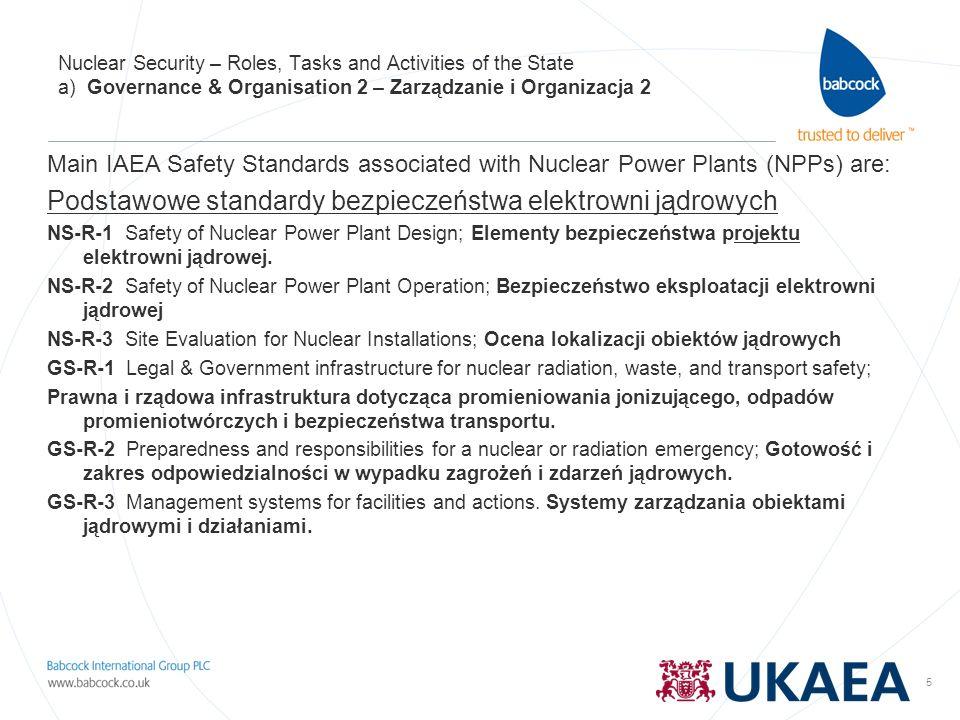 Podstawowe standardy bezpieczeństwa elektrowni jądrowych