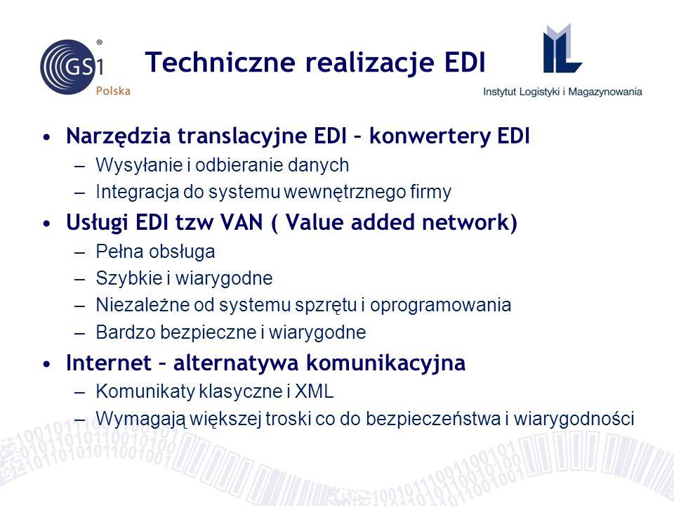 Techniczne realizacje EDI