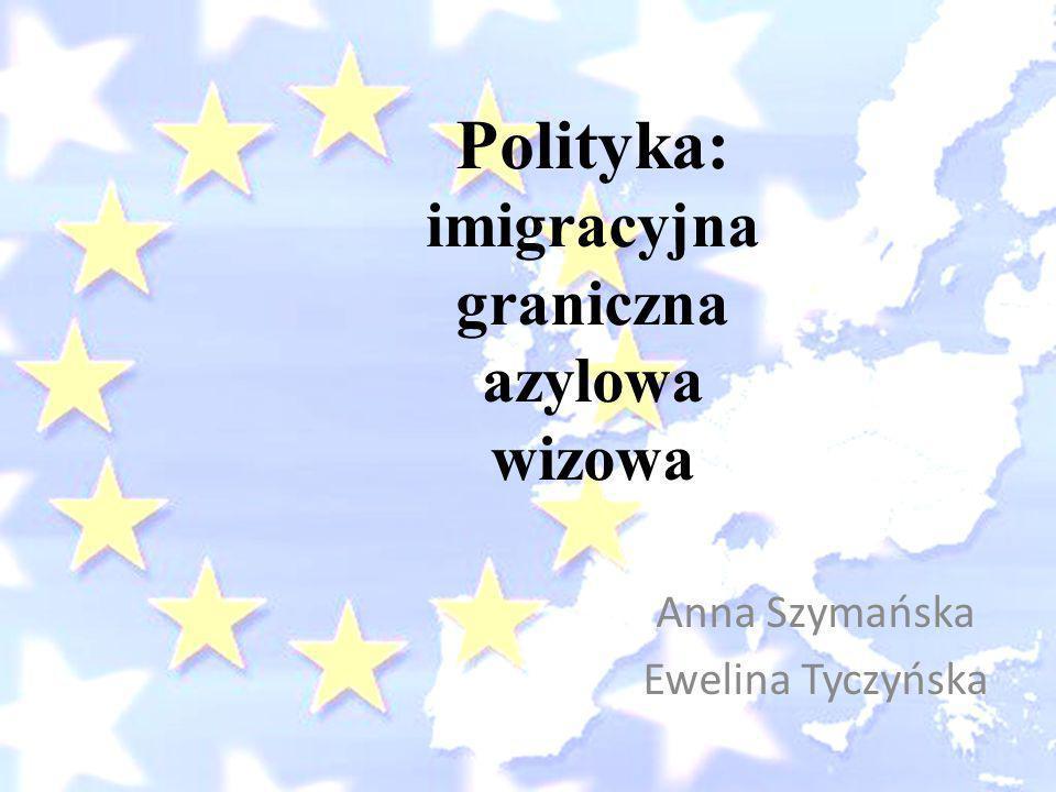 Polityka: imigracyjna graniczna azylowa wizowa
