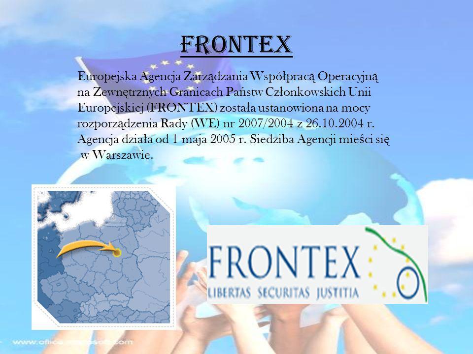 FRONTEX Europejska Agencja Zarządzania Współpracą Operacyjną