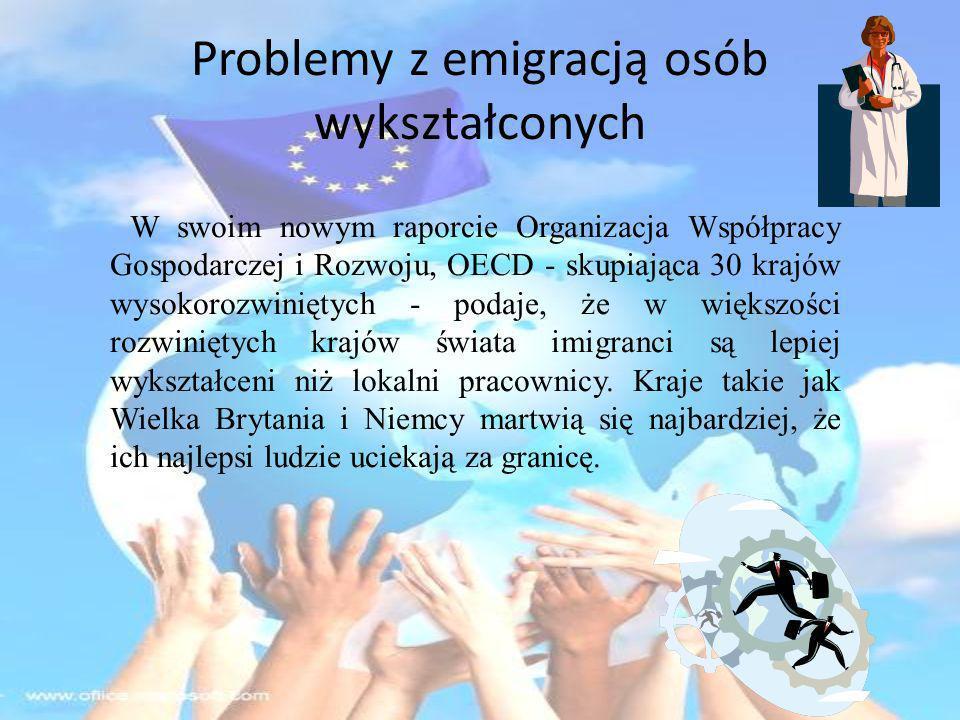 Problemy z emigracją osób wykształconych