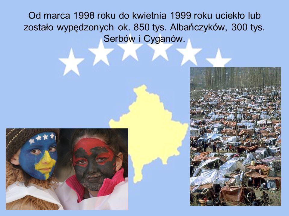 Od marca 1998 roku do kwietnia 1999 roku uciekło lub zostało wypędzonych ok.