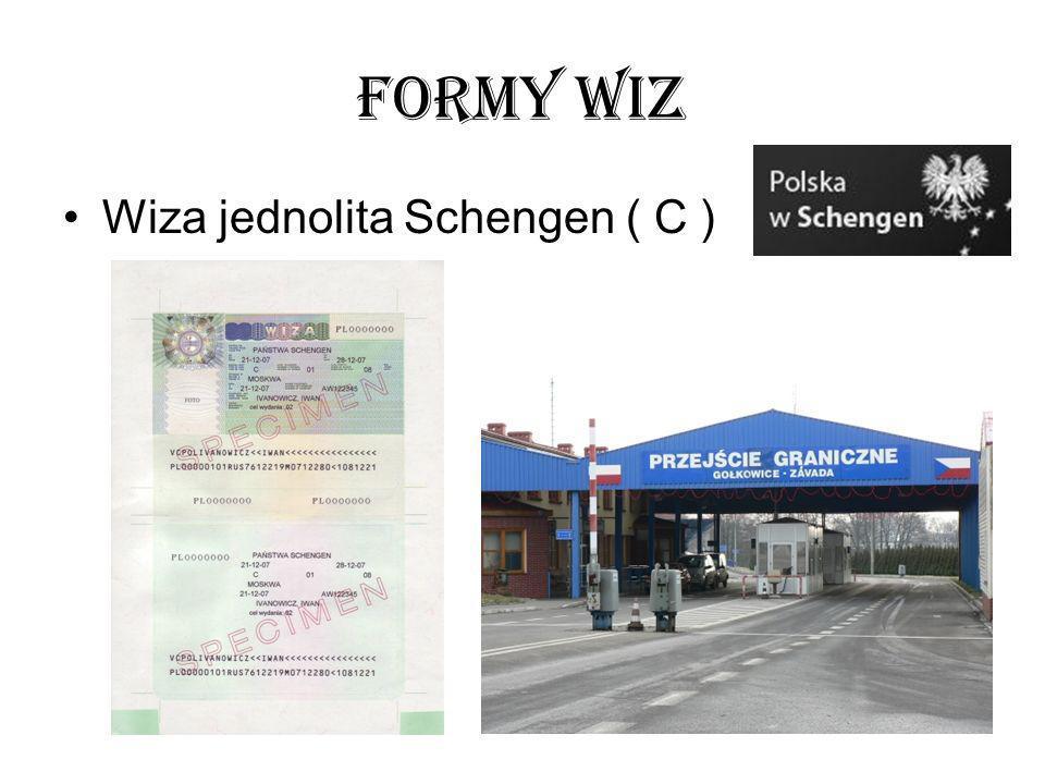 FORMY WIZ Wiza jednolita Schengen ( C )