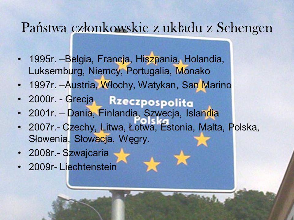 Państwa członkowskie z układu z Schengen