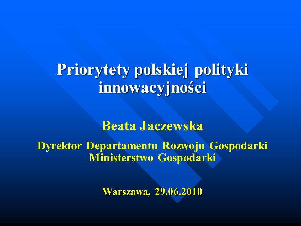 Priorytety polskiej polityki innowacyjności