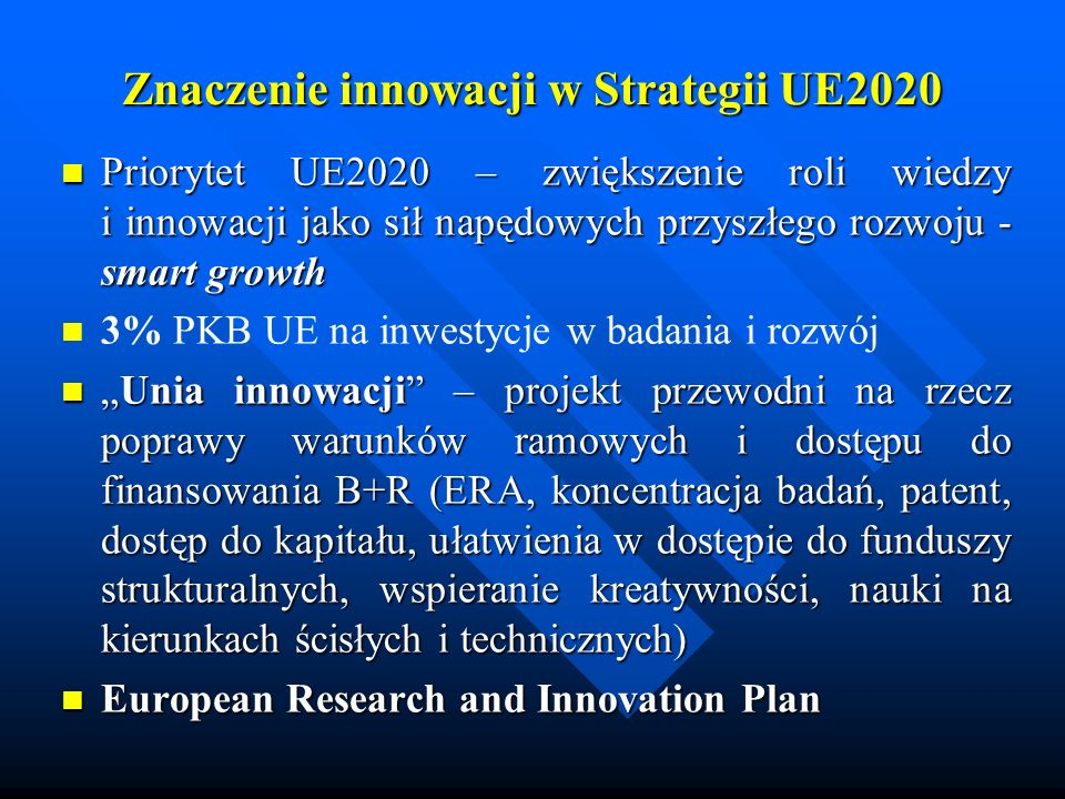 Znaczenie innowacji w Strategii UE2020