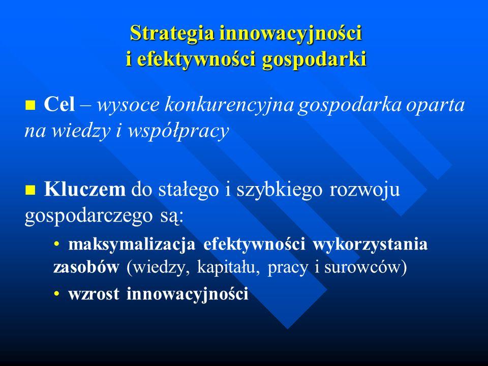 Strategia innowacyjności i efektywności gospodarki