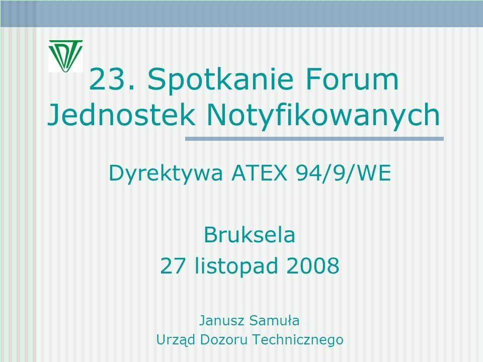 23. Spotkanie Forum Jednostek Notyfikowanych