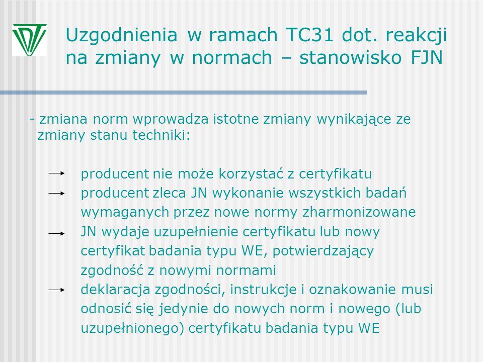 Uzgodnienia w ramach TC31 dot