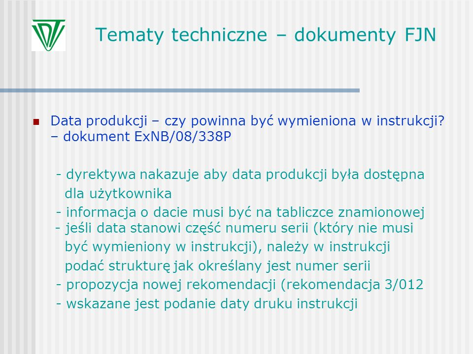 Tematy techniczne – dokumenty FJN