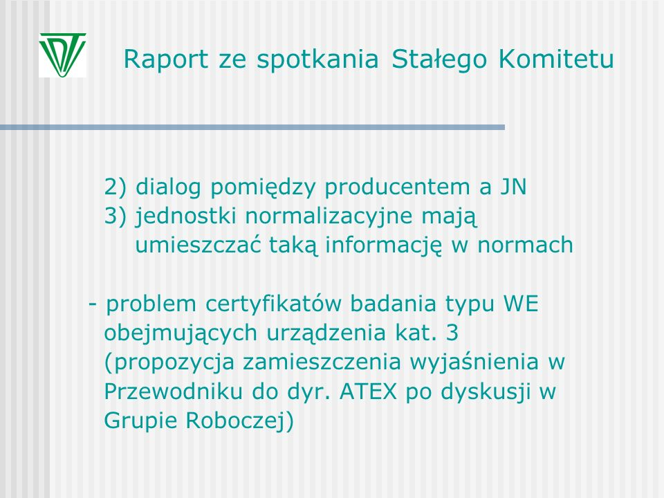Raport ze spotkania Stałego Komitetu