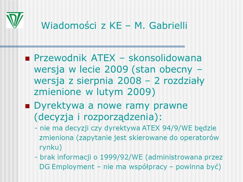 Wiadomości z KE – M. Gabrielli