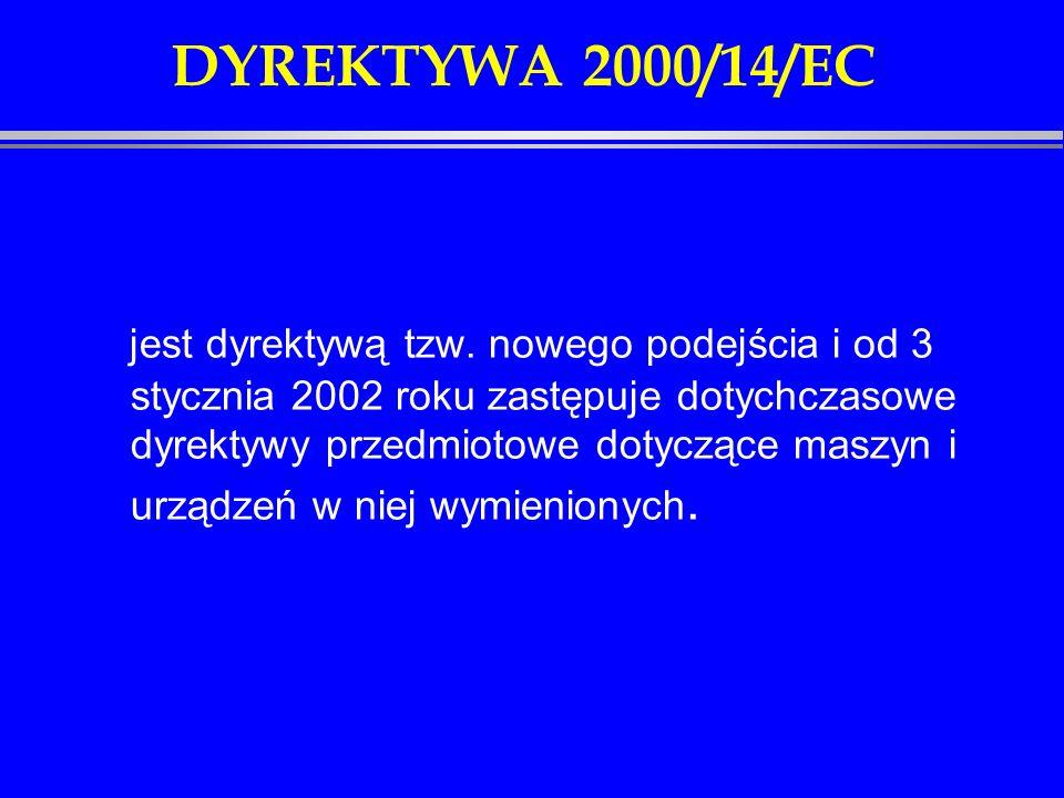 DYREKTYWA 2000/14/EC
