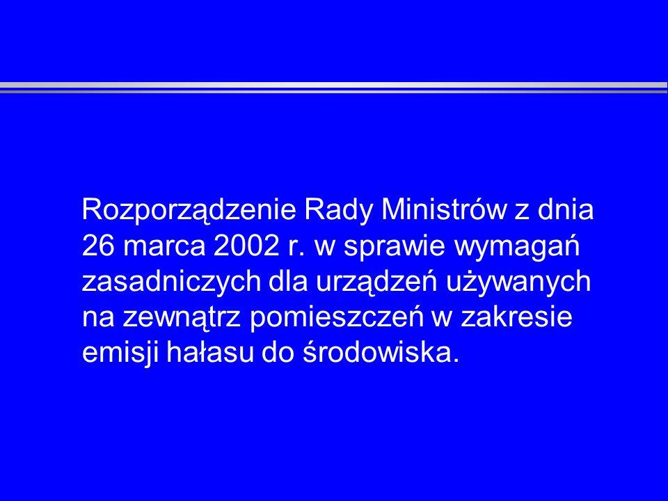 Rozporządzenie Rady Ministrów z dnia 26 marca 2002 r