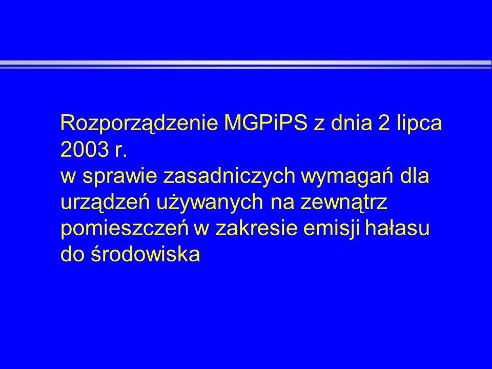 Rozporządzenie MGPiPS z dnia 2 lipca 2003 r