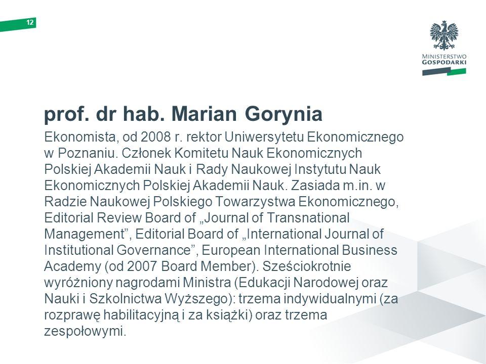 prof. dr hab. Marian Gorynia