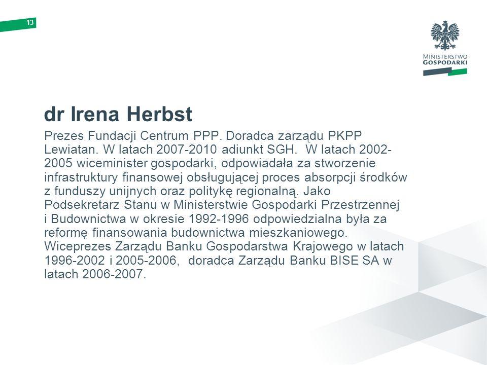 13 dr Irena Herbst.