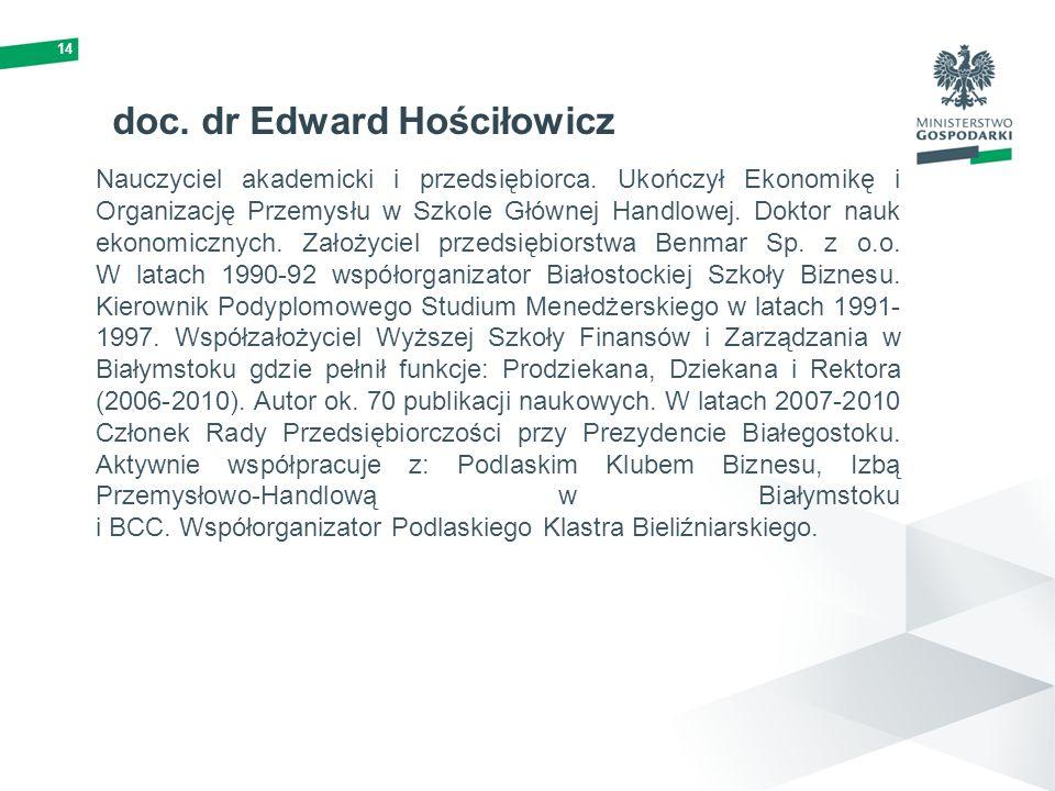 doc. dr Edward Hościłowicz