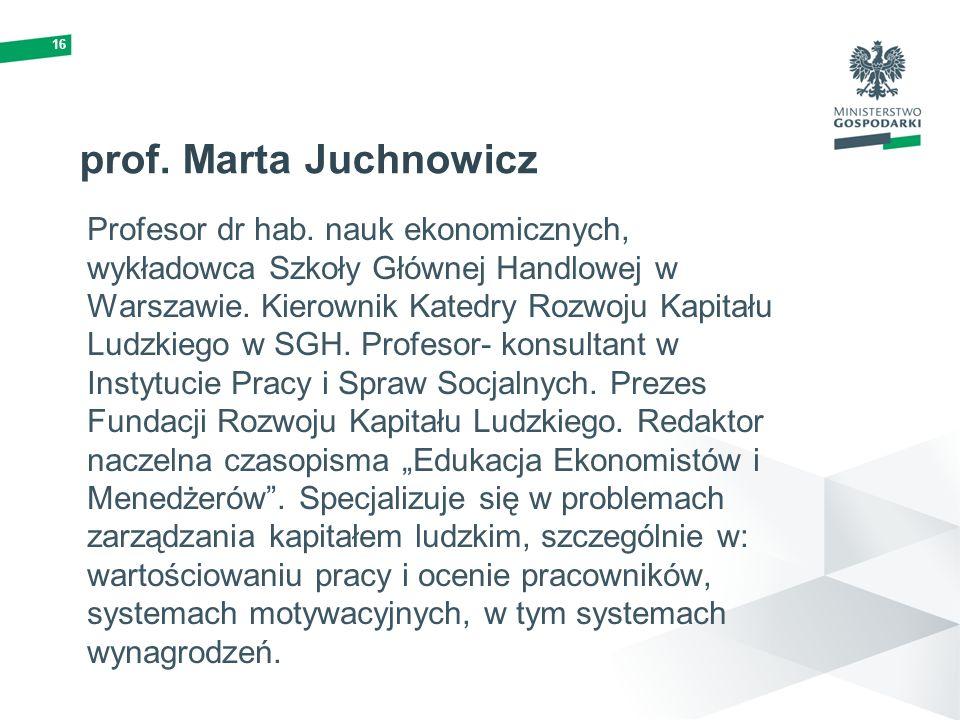 16 prof. Marta Juchnowicz.