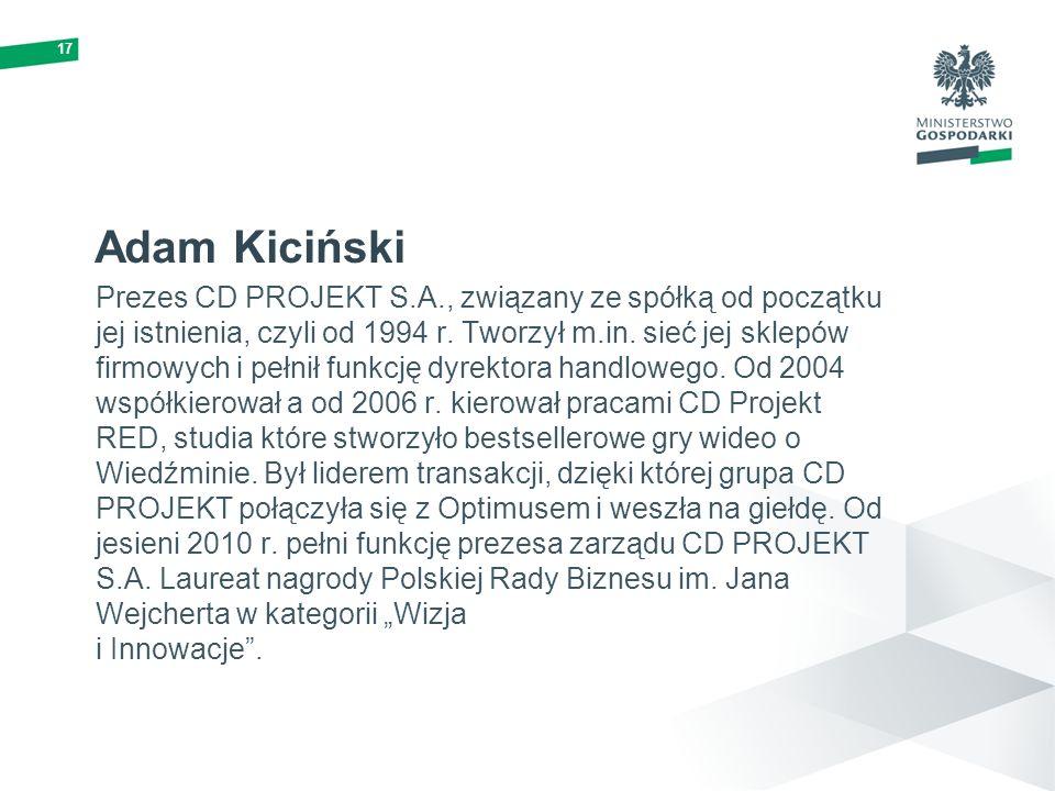17 Adam Kiciński.