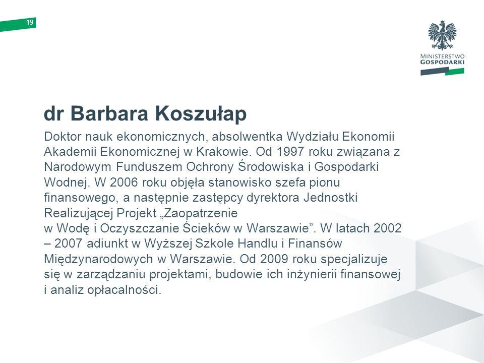 19 dr Barbara Koszułap.