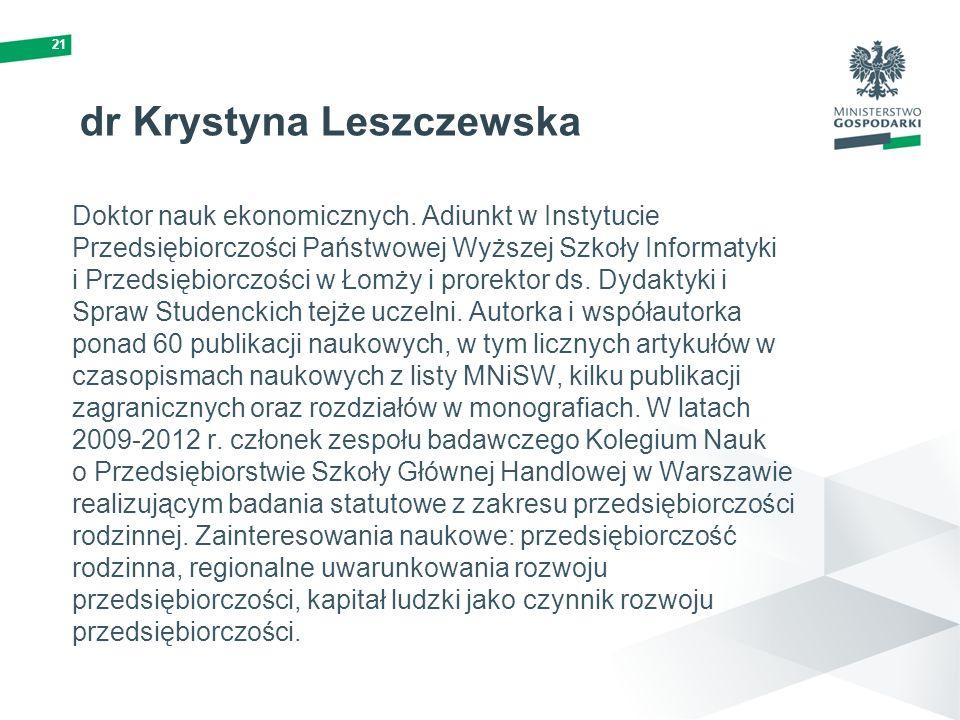 dr Krystyna Leszczewska