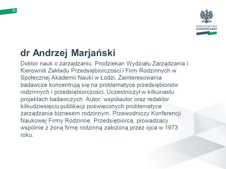 22 dr Andrzej Marjański.
