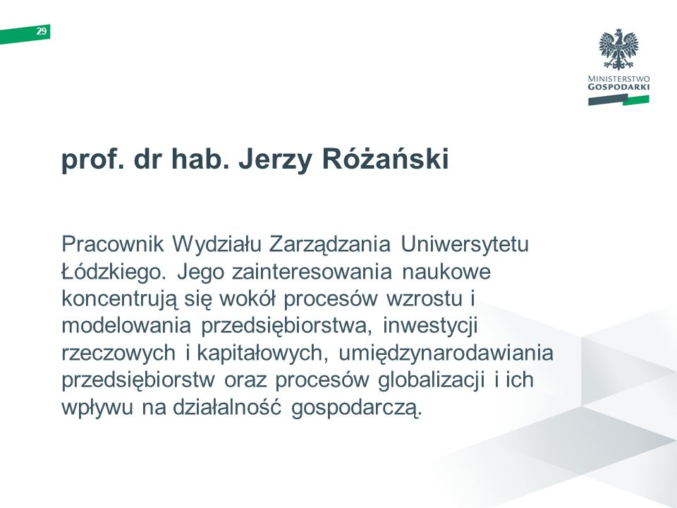 prof. dr hab. Jerzy Różański