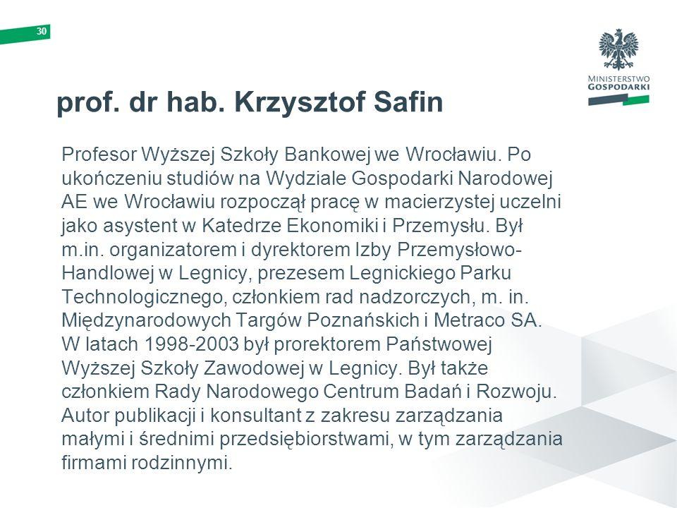 prof. dr hab. Krzysztof Safin