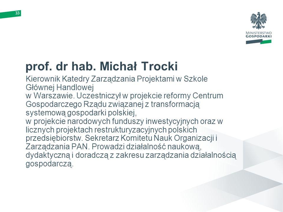 prof. dr hab. Michał Trocki