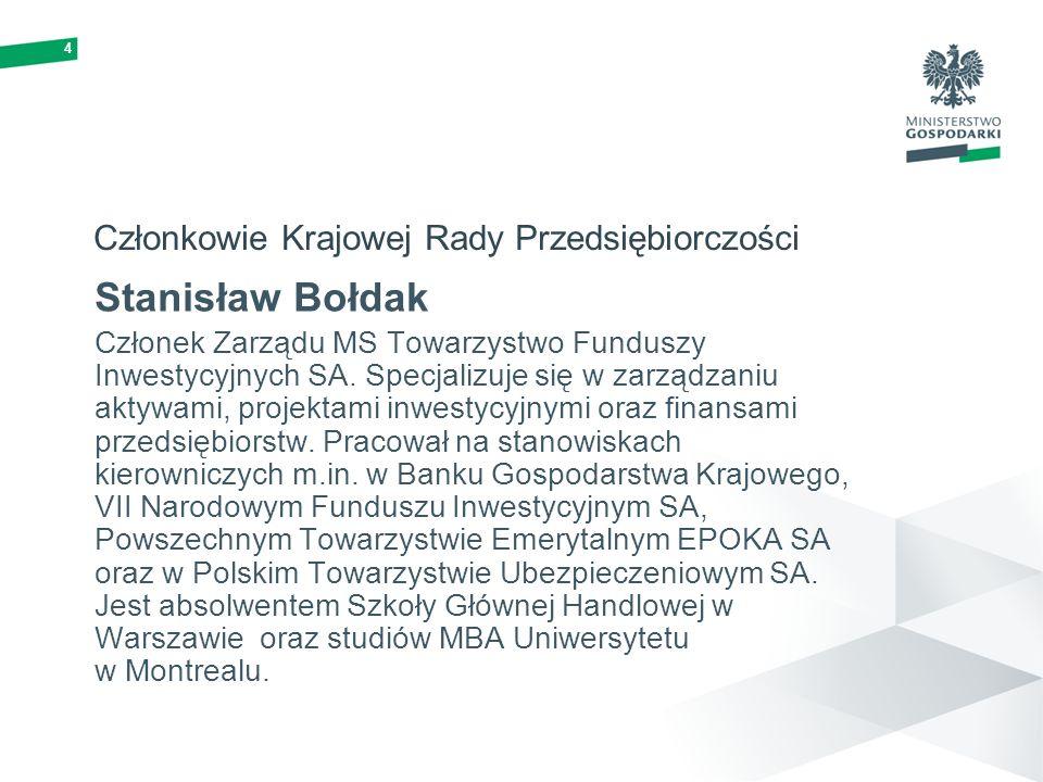 Członkowie Krajowej Rady Przedsiębiorczości
