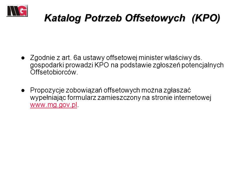 Katalog Potrzeb Offsetowych (KPO)