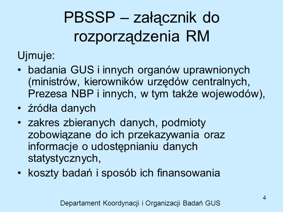 PBSSP – załącznik do rozporządzenia RM