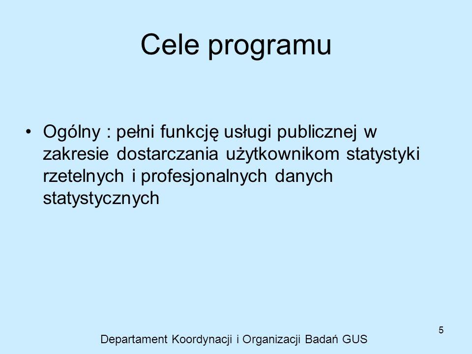 Departament Koordynacji i Organizacji Badań GUS