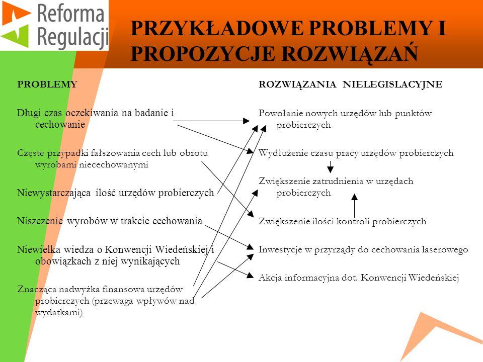 PRZYKŁADOWE PROBLEMY I PROPOZYCJE ROZWIĄZAŃ