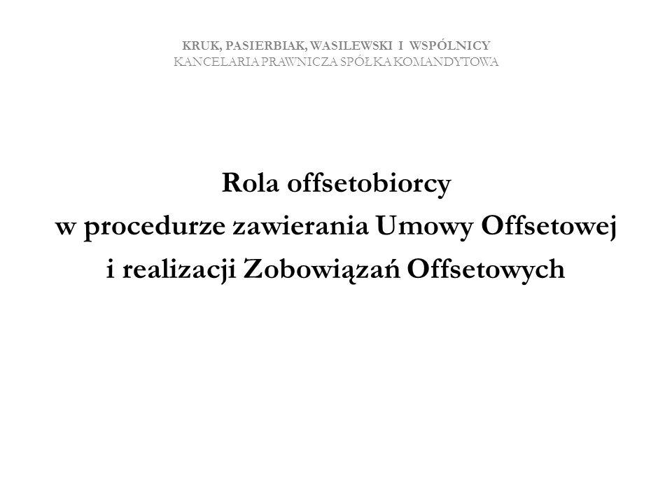 w procedurze zawierania Umowy Offsetowej